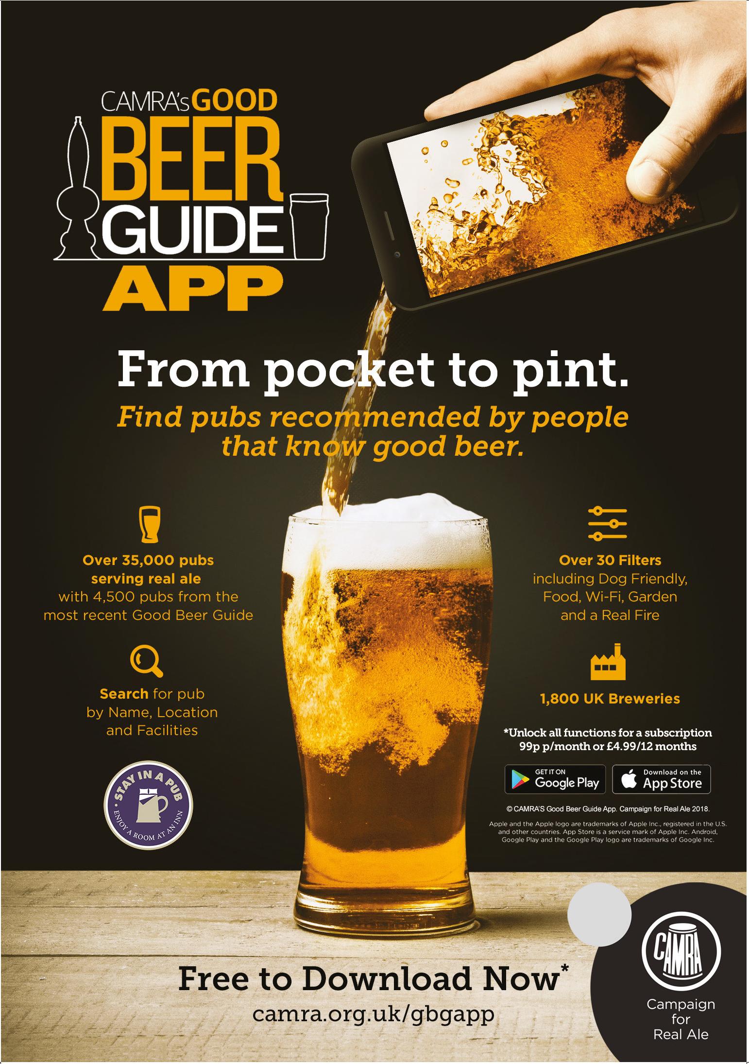 CAMRA's Good Beer Guide App
